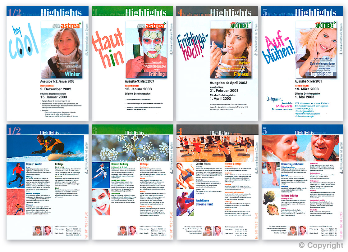 A4-Flyer-Serie: Bildredaktion, Typografie und Layout-Design