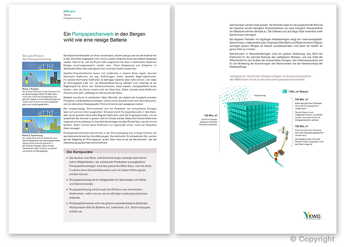 A4, doppelseitiges Informationsblatt: Illustration, Typografie und Layout-Design